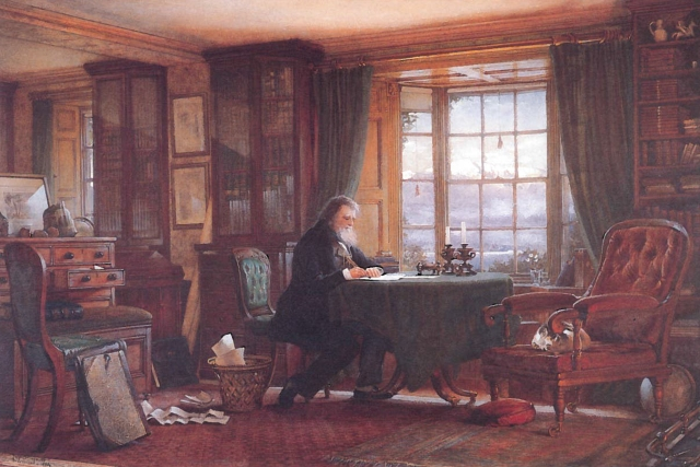 collingwood-ruskin-in-his-study-at-brantwood-1882