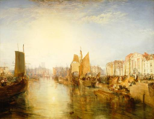 Harbour of Dieppe (Changement de Domicile) exhibited 1825 by Joseph Mallord William Turner 1775-1851