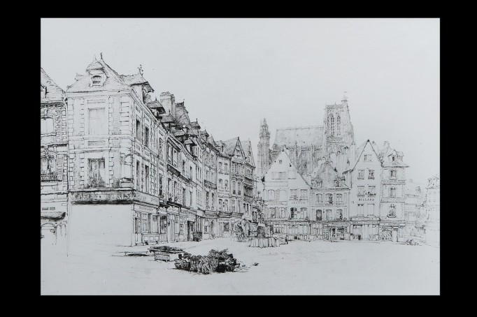 Abbeville Town Square Ruskin's Drawing