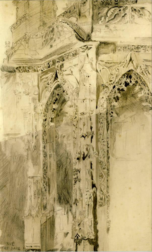 St. Sauveur-Caen-Detail- 1848 (Ruskin Library)