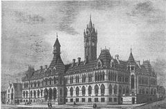 Law Courts, Manchester--early 1860s