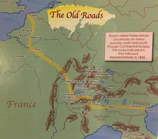 Ruskin's Old Road Map (Hanley and Dickinson)