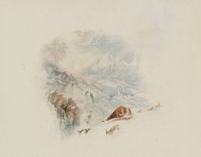 The Alps (The Alps at Daybreak), for Rogers's 'Poems' circa 1832 by Joseph Mallord William Turner 1775-1851