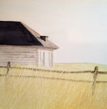 Kateri Ewing--White Shed and Field
