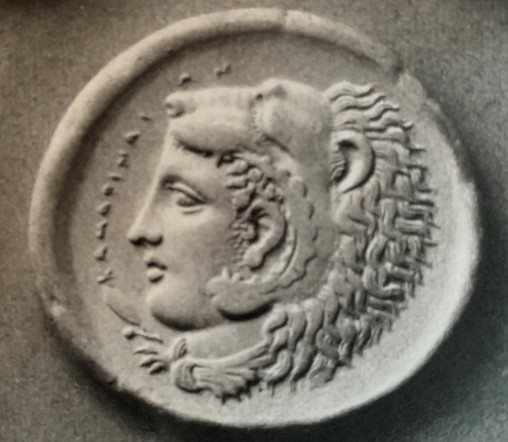 Hercules and the Namean Lion Helmet (coin)
