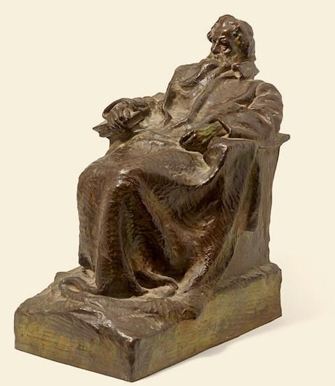 Borglum--sculpture portrait of Ruskin--1903