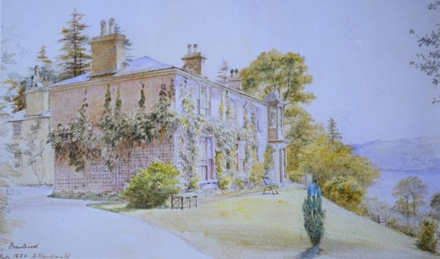 Brantwood 1880 A Macdonald watercolor Ruskin Museum 3200dpi