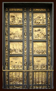 Gates of the Baptistery Florence (with ribands)--Ghiberti
