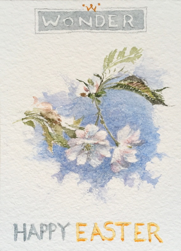 Howard Hull's watercolor of Van Burd's Cherry Tree Brantwood 2020