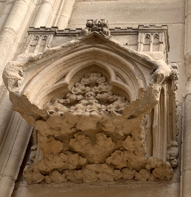 Lyons Cathedral--Facade Brackets #2 and #3
