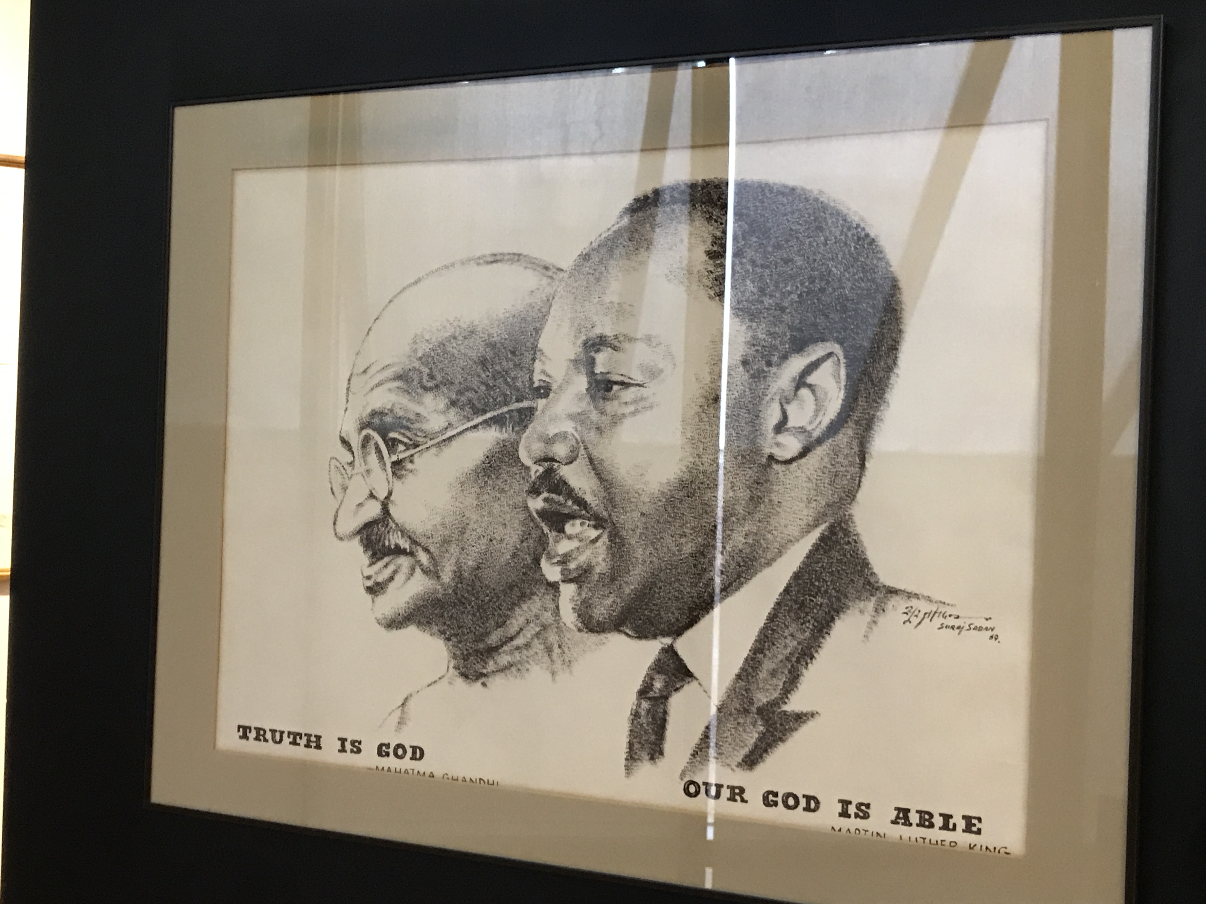 Gandhi and M. L. King at the King National Historical Landmark Atlanta (Jenn Abrams)