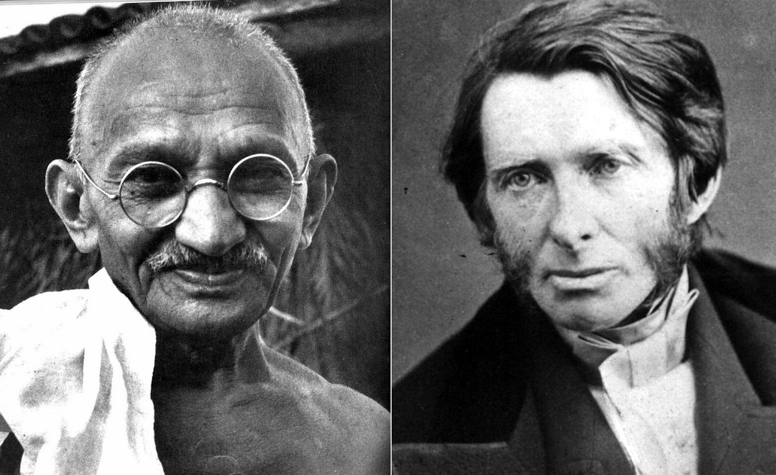 Gandhi and Ruskin (Arjun Jain image)