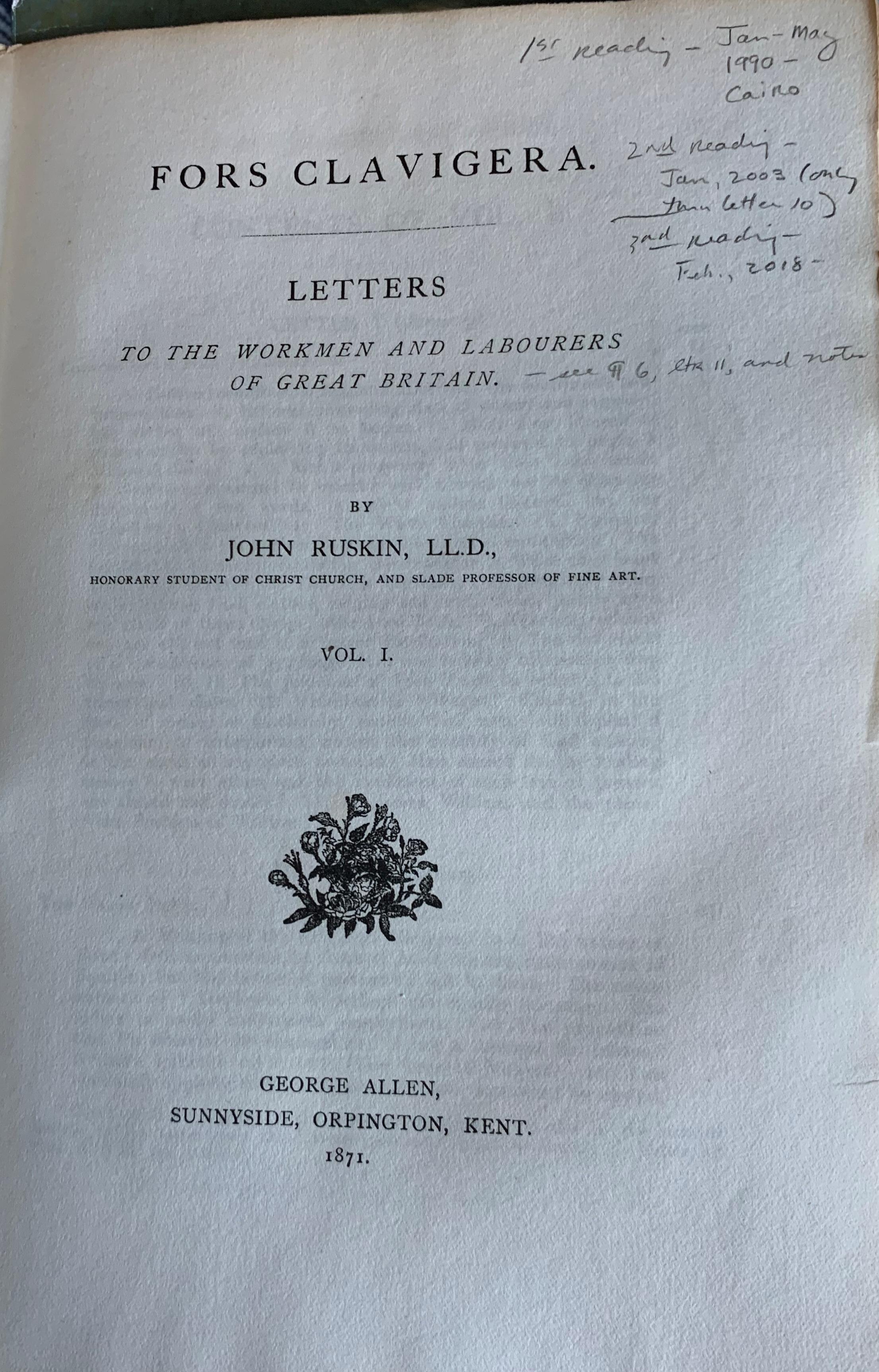 Fors Letter 1 Titlr Page